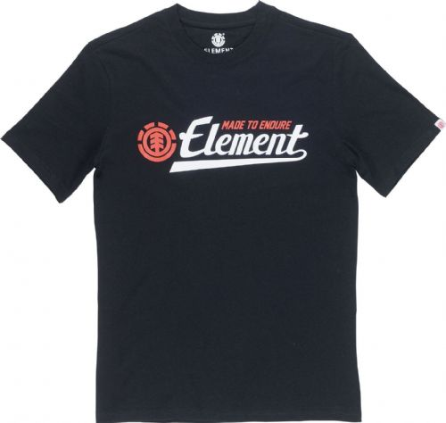 ELEMENT MENS T SHIRT.SIGNATURE BLACK COTTON SHORT SLEEVED SKATER TOP TEE 8W 8 37